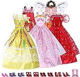 Assorted Handmade Barbie Clothes (Dress x5 & Shoes x 10)