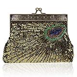 SSMK Evening Bag, Damen Clutch, gelb - apfelgrün - Größe: One Size