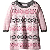 Bonnie Baby Baby-Girls Floral Stripe Sweater Dress