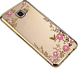 ZCRO Handyhülle für Samsung Galaxy S9, Silikonhülle Transparent Schutzhülle TPU Case Hülle Silikon Weich Blumen Schmetterling Muster Glitzer Diamant Durchsichtig Ultra Dünn Cover