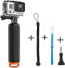 GoPro Schwimmer Handgriff, Homeet Schwimmender Hand Grip Unterwasser Handstick Monopod Pole Selfie Stick Ergonomisch für GoPro Hero 5/4/3+/3/Session/SJCAM Garmin Virb Yi 4K DBPOWER QUMOX Akaso