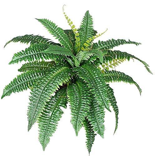Felce verde - pianta artificiale da arredo interno - 32 foglie - Ø 50 cm