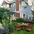 Yahee Sonnensegel Sonnenschutz Segel 3x3M UV-Schutz Beschattung Quadrat von Yahee auf Gartenmöbel von Du und Dein Garten