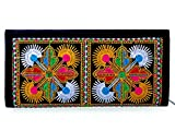 #10: Para Women Traditional Hand Clutch Ladies Embroideries Wallet, Black