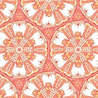 The Gift Wrap Company 6 Count Premium Wrapping Paper Rolls, Coral Shields, Coral/White