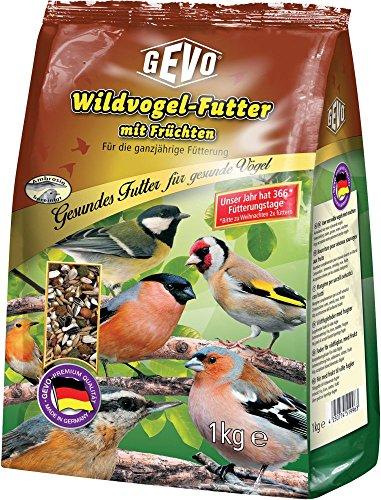 Preisvergleich Produktbild GEVO Wildvogelfutter mit Früchten 1 kg Extra fein Größe 1 x 2, 5kg