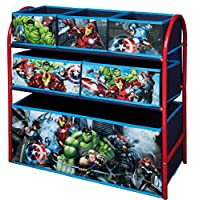 URBN Toys 6 Drawer Disney & Marvel Metal Rack Organiser 65 x 28 x 63 cm.- Toy Storage Boxes - 3 Options Available (Avengers)
