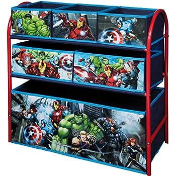 Marvel Avengers Kids Toy Unit 2 Tier, 3 Drawer Organiser