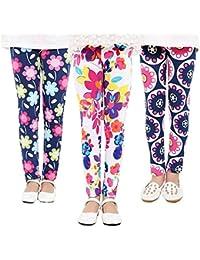 Samber Leggings Fille Sport Imprimé Floral Pantalon Collant Enfant Long  Coloré Fitness Compression Gym Jogging Yoga 770a35e15de