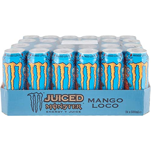 Monster-Ko Monster-K Monster Energy Mango Loco, Lattina - Pacco da 24 x 500 ml
