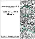 Allenstein: Karte des Deutschen Reiches 1:100.000, Kreiskarte (Karte des Deutschen Reiches. Kreiskarten)