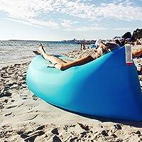 Takestop® - Colchoneta inflable, a compresión, perfecta también como saco de dormir, sofá, colchoneta de playa, color aleatorio