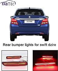 Fabtec Car Rear Bumper Break Light DRL Light with Knife Style for (Suzuki Dzire 2012-2018)