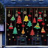 Wandaufkleber Home Festival Wandaufkleber Shop Glasfenster Aufkleber Shop Dekoration Dekoration Festival Baum Anhänger Hängende Dekoration Ball, 50 * 70 CM