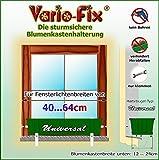 Vario-Fix Universal Haltebügel für 12cm Blumenkasten mit 40cm Spannstange