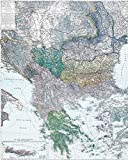 Historische Karte: Die BALKAN Halbinsel - um 1910 [gerollt]: Carl Flemmings Generalkarte, No. 35. Bulgarien, Ost-Rumelien, Bosnien, Herzegowina, ... Montenegro, Königreich Griechenland