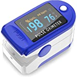 BESTIES Care Pulse Oximeter Finger Tip Digital Heart Rate Monitors Color OLED Display Type Pulse Oxygen Meter Finger Oxymeter Oxygard, measures Oxygen Saturation, Pulse Rate (SpO2) & Perfusion