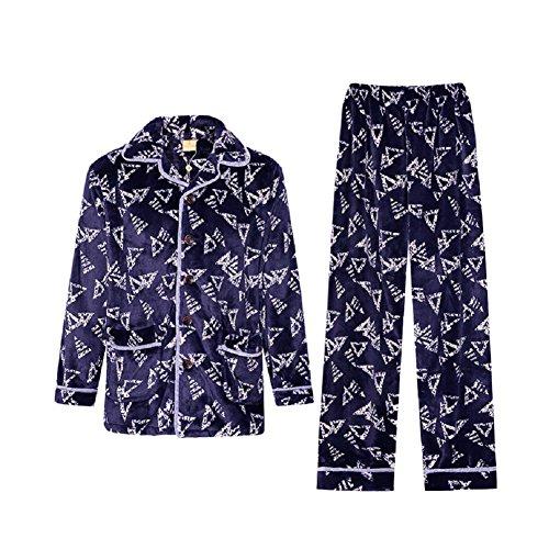 GJX Autunno uomo e inverno pigiama Coral velluto manica lunga