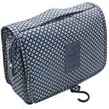 ITraveller Portable Hanging Toiletry Bag/Portable Travel Organizer Cosmetic Bag for Women Makeup or Men Shaving Kit with Hanging Hook for Vacation