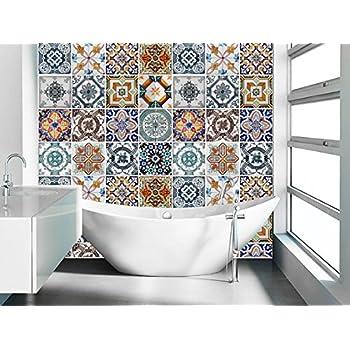 Adesivi per piastrelle confezioni con 48 piastrelle 10 for Stickers per mattonelle bagno