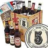 Zum 5. Jubiläum   Bier Geschenk - Box   mit Bieren aus Ostdeutschland