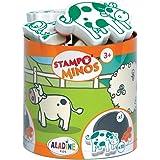 Aladine - Stampo Minos Animaux de la Ferme - Kit Tampons Enfant - Activités Manuelles Fille et Garçon - Encre Lavable - Jouet