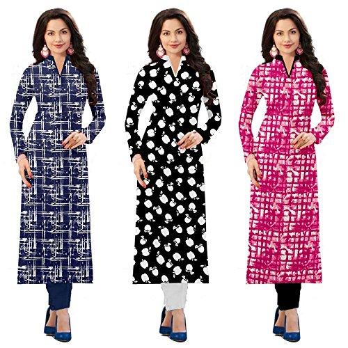 Pramukh Fashion Women\'s crape kurtis (1029.1023.1025)_Free Size semi stich