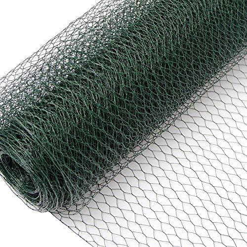Recinto in Rete Metallica | Maglia Esagonale 13x13mm | Recinzione per Animali e Piante Lunga 25 m| Altezza 100 cm| Plastificato 0,8mm