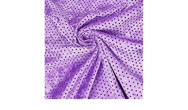 Faschingsstoff Pannesamt mit Pailletten lila 1,5m Breite