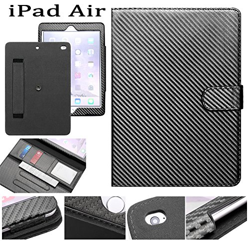 -Carbon-Fibre Tablet-Schutzhülle, Apple iPad Air, Black Carbon Fiber, Stück: 1 (Halloween-partys In London 2017)