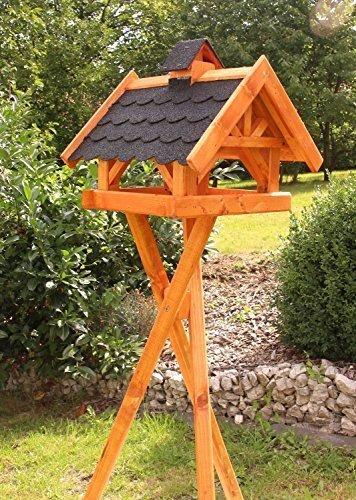 Rechteckiges Vogelhaus, Vogelhäuser behandelt Typ 33 (Groß mit Ständer, Schwarz)