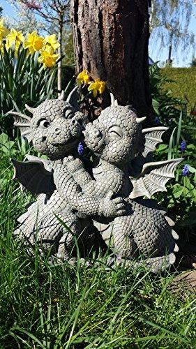 Figure de jardin Dragon embrasser décoration