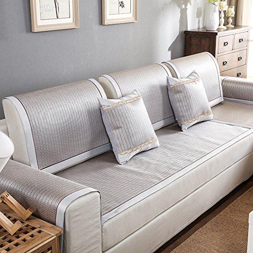 Estate stuoia di bambù copridivano,anti-slittamento,fodera per divano semplice,copertina,divano ammortizzazione,combinazione di pad freddo di estate,moderna-b 80x120cm(31x47inch)