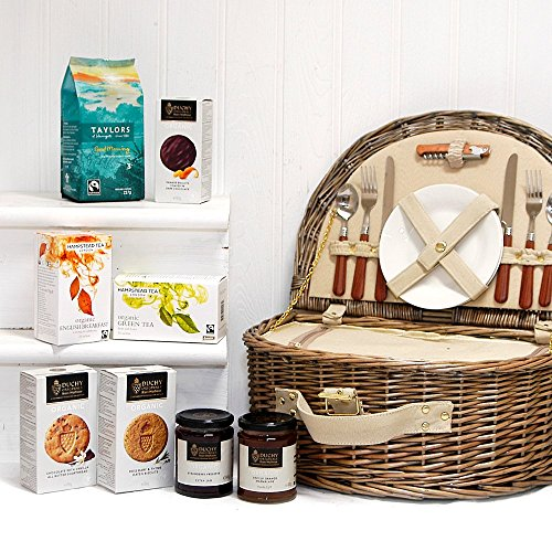 The Westbury 2 Person Picnic Basket Hamper with Organic Fine Food - Gift ideas