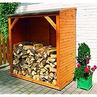 PROMADINO Kaminholzschrank 149x78x165 cm Schrank 355/20 Holzschrank