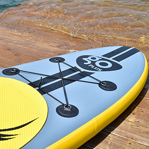 61FbWpi62jL. SS500  - COSTWAY 10FT/11FT SUP Inflatable Stand Up Paddle Board W/Carry Bag, Repair Kit, Tail Vane, Adjustable Paddle, Hand Pump with Pressure Gauge, Ideal Beginners Soft Surfing Board Kit