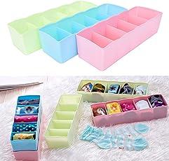 RiWEXA Socks Undergarments Storage Drawer Organiser (Multicolour, 6.1735427327e+011) - Pack of 4