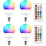 E14 LED-lamp 5W (vervangt 40W) RGBW met afstandsbediening warmwit 2700K sfeer RGB kleurverandering gekleurde lamp lamp dimbaa