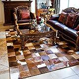 Kuhfell Teppich Villa Wohnzimmer Horsehide Teppichboden Schlafzimmer Roßhaar Teppich ( größe : 120*180 , stil : #8 )