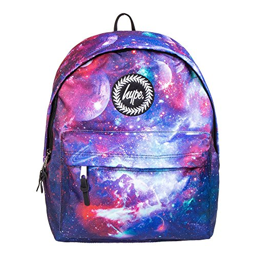 Hype Rucksack Taschen Rucksäcke–Schulranzen–viele neue Farben & Designs–wählen Sie Ihre Favoriten aus 40Styles, Speckled Black/Navy Blue (Schwarz) - Hype bag (Splatter Embroid) Deep Cosmo