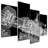 Kunstdruck - Formel 1 Rennwagen - Bild auf Leinwand - 120x80 cm 4 teilig - Leinwandbilder - Bilder als Leinwanddruck - Wandbild von Bilderdepot24 - Urban & Graphic - Abstrakte Kunst - Illustration eines F1 Boliden