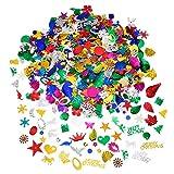 BBTO Confeti Brillante Lentejuelas de Colores y Tamaños Mezclados, Bueno para Manualidades de Navidad Fiesta Cumpleaños Decoración de Fiesta