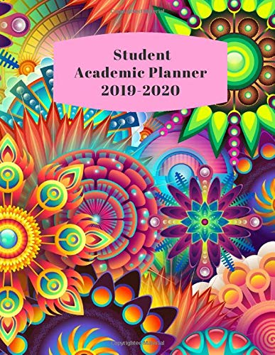 Student Academic Planner 2019-2020: Daily Organizer Calendar Class Schedule, School Assignment Tracker, Grade Log Book, Goals, Notes Pages, Weekly ... Hippie Abstract (School Organizer, Band 40) Paisley Boys Band