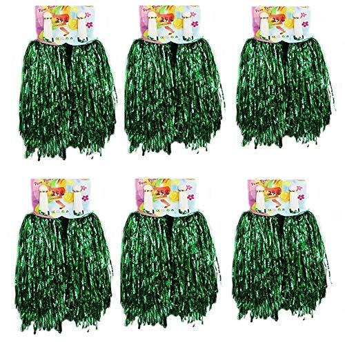 (1 Dutzend Cheerleading Pompons, CRIVERS 12pc Cheerleader Pompoms für Ball Tanzen Schick Kleid Nacht Party Sports (Grüne))
