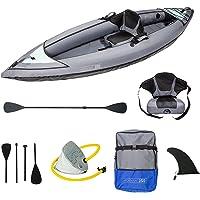 ADRN Kayak Gonflable 1 Place (317 x 90 x 33cm) OU 2/3 Places (380 x 100 x 44cm), randonnée mer et rivière, Pack Complet…