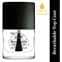 Iba Halal Care Breathable Argan Oil Enriched Top Coat, Clear, 9ml