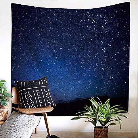 XXSZKAA Tapisserie Espace Starry Nordic Fleece Polyester Tapestry Photographie Fond Bracket Beach Turban Fond D'Écran Salon Canapé Fond