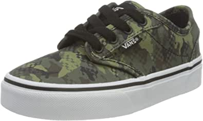 Vans Atwood Canvas Sneaker, (Mixed Camo) Black/White, 5.5 UK
