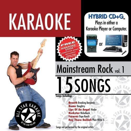 ASK-1553 Mainstream Rock Karaoke Edge, Vol. 1; Daughtry , Nickelback and Plain White Ts by Karaoke (2008-05-03)