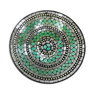 Art Deco Home - Dekoteller, Glas, grün, 30 cm - 12622SG